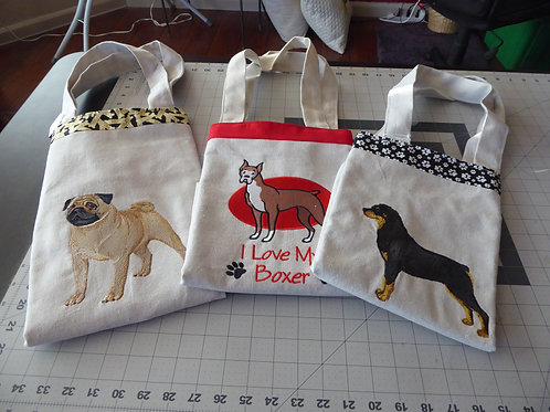 DOG BREED TOTE BAGS (H-P)
