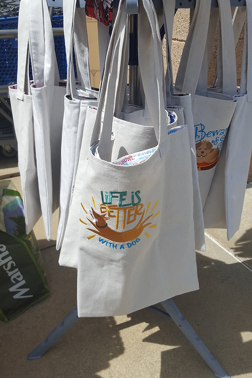 CANVAS EMBRODIERED TOTE BAGS
