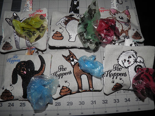 POO BAG HOLDERS - Dog Breed H - P