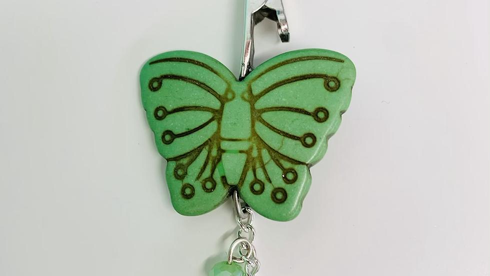 Mini Green Butterly Cannaclip