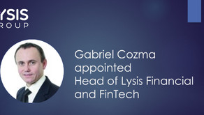 Gabriel Cozma joins Lysis Group as Head of Lysis Financial and FinTech