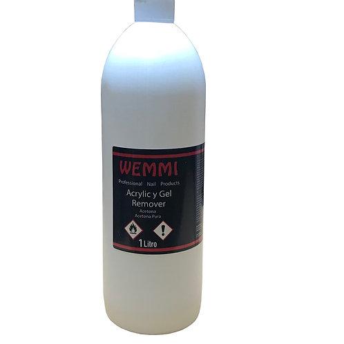 Removedor de acrílico. Acetona pura 1000 ml.