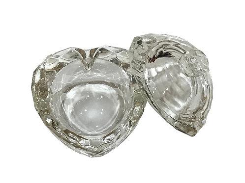 Frasco de cristal corazón grande