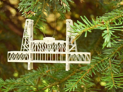 Mini Steel Bridge Ornament - Assembled