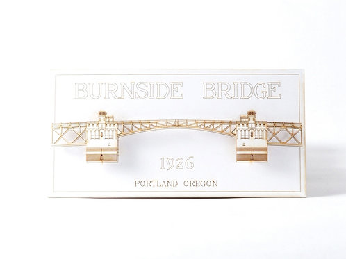 Laser Cut Card of Burnside Bridge in Portland