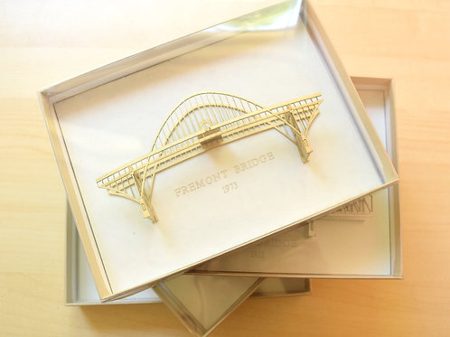 Mini Fremont Bridge Ornament - Assembled