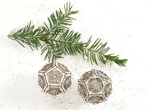 Two Snowflake Orbs - Model Kit