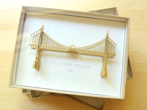 Mini Steel Bridge Ornament - Assembled