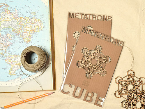 Metatron's Cube Wood Ornament