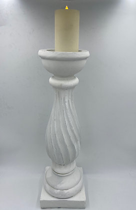 Tall White Candlestick