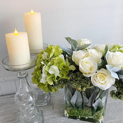 Floral Arrangement in Glass Vase