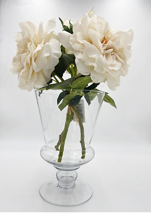 Clear Footed Glass Vase