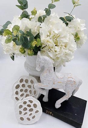 White Ceramic Horse
