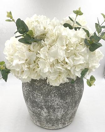 Aged Cement Vase