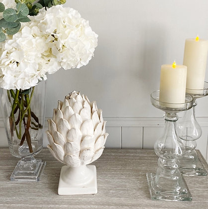 Decorative White Artichoke