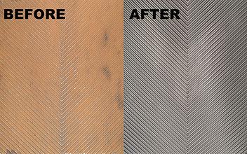 The cleaning of refurbised titanium metal.