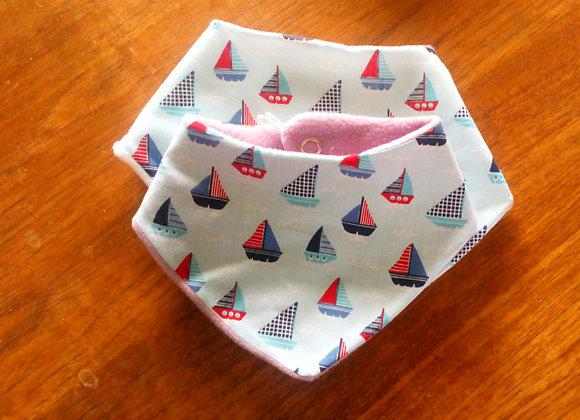 Handmade Ship Baby Bibs