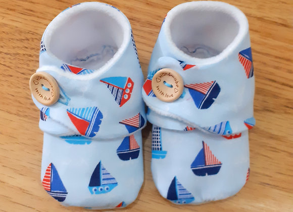 Handmade Ship Baby/Toddler Booties