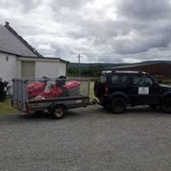 Our old vehicle and mower setup