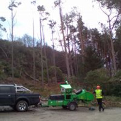 Truck and chipper Hope Estate