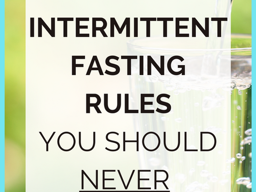 3 Intermittent Fasting Rules You Should NEVER Break!