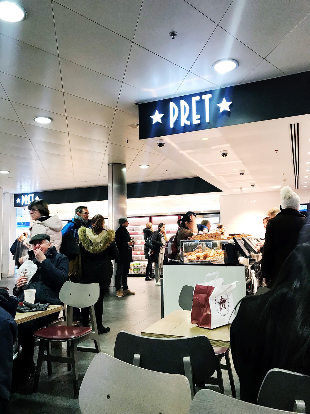 healthy London travel pret a manger