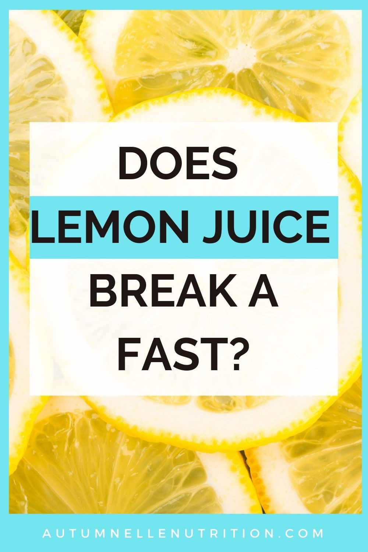 does juicing break a fast