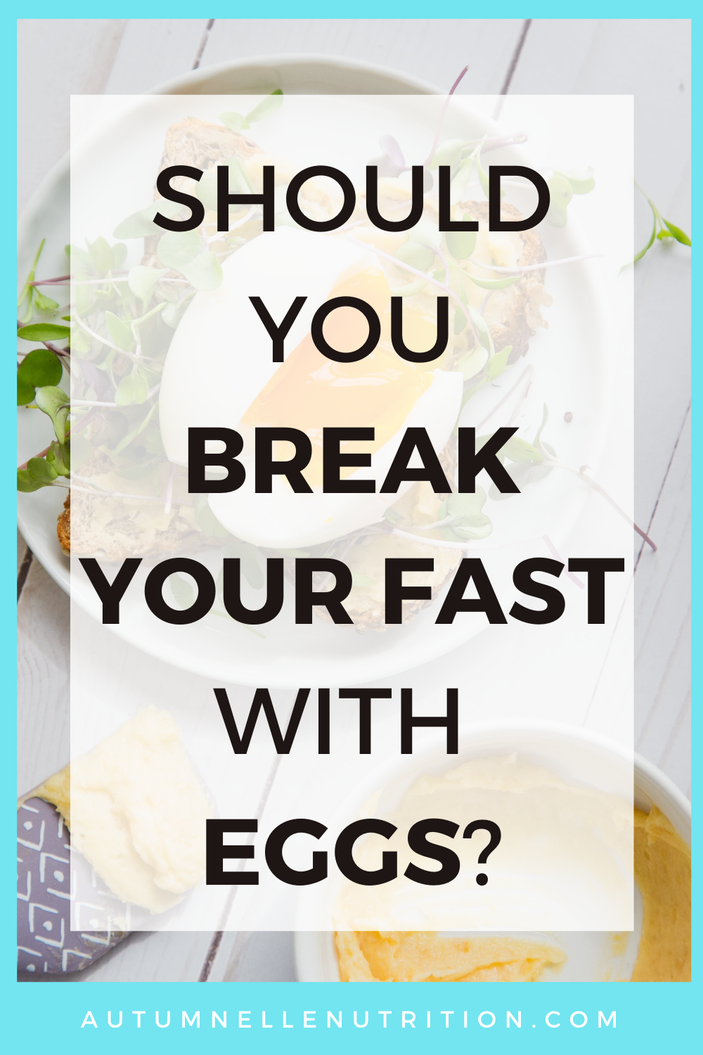 Breaking a fast with eggs