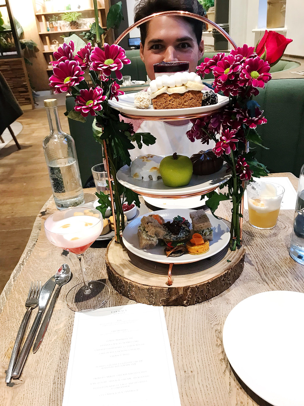 healthy London restaurants travel - farmacy high tea