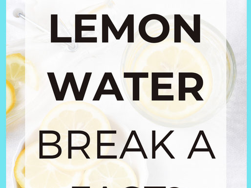 Does Lemon Water or Ginger Lemon Tea Break a Fast? [Intermittent Fasting Tips]