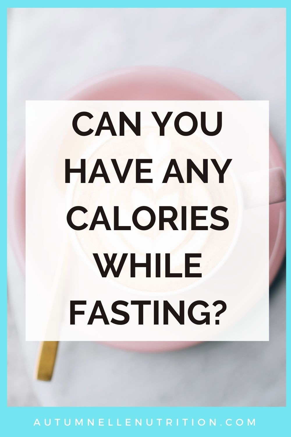 can you have any calories while fasting
