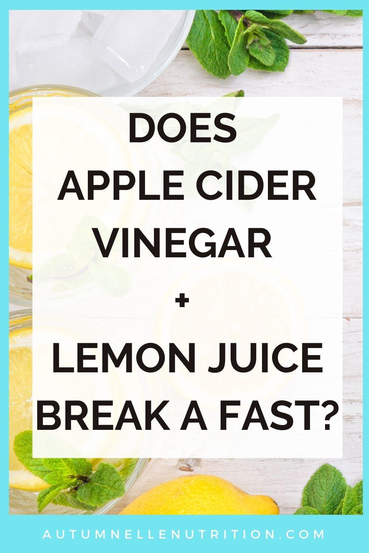 does lemon juice break a fast
