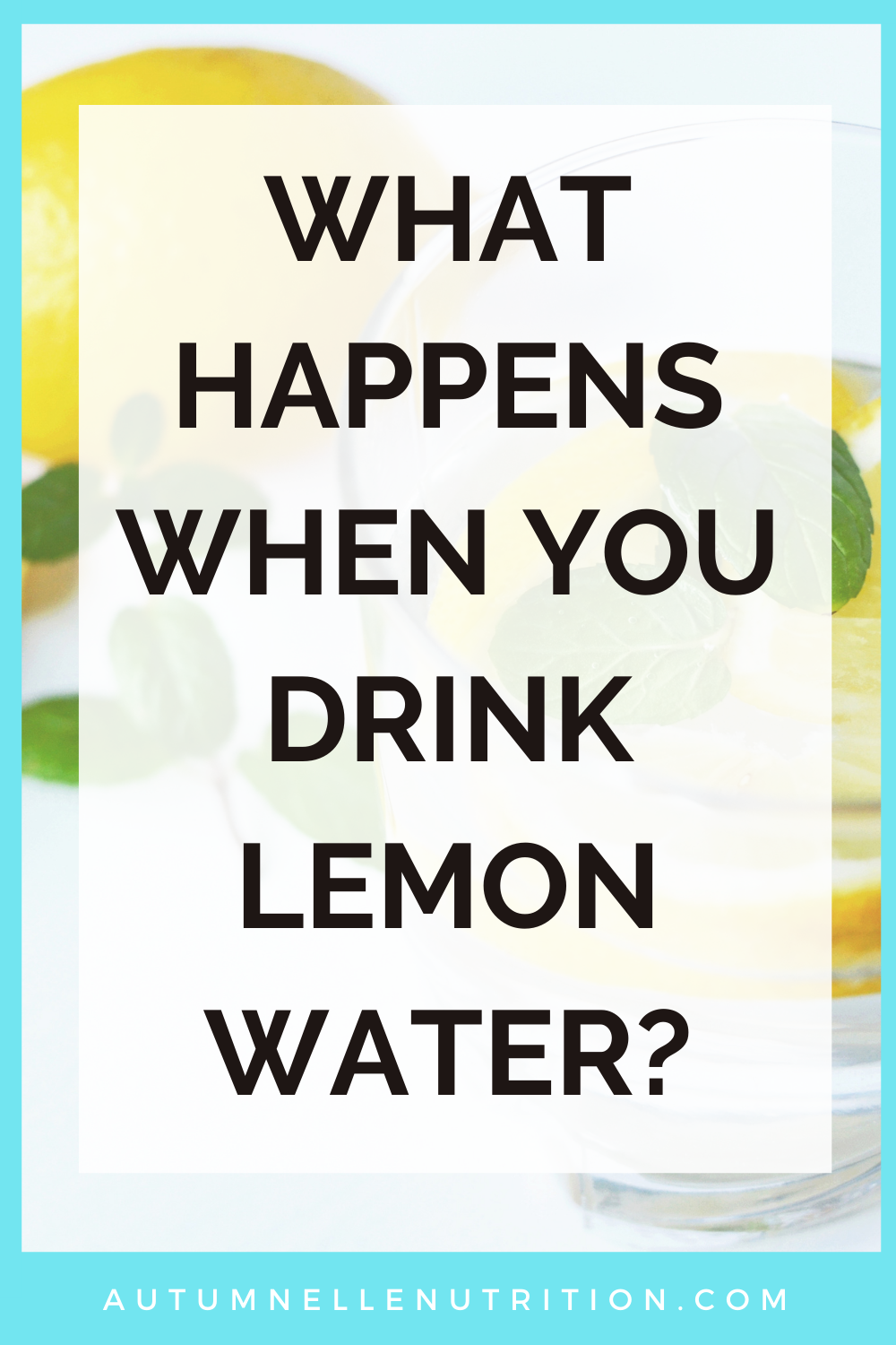 does lemon water break a fast