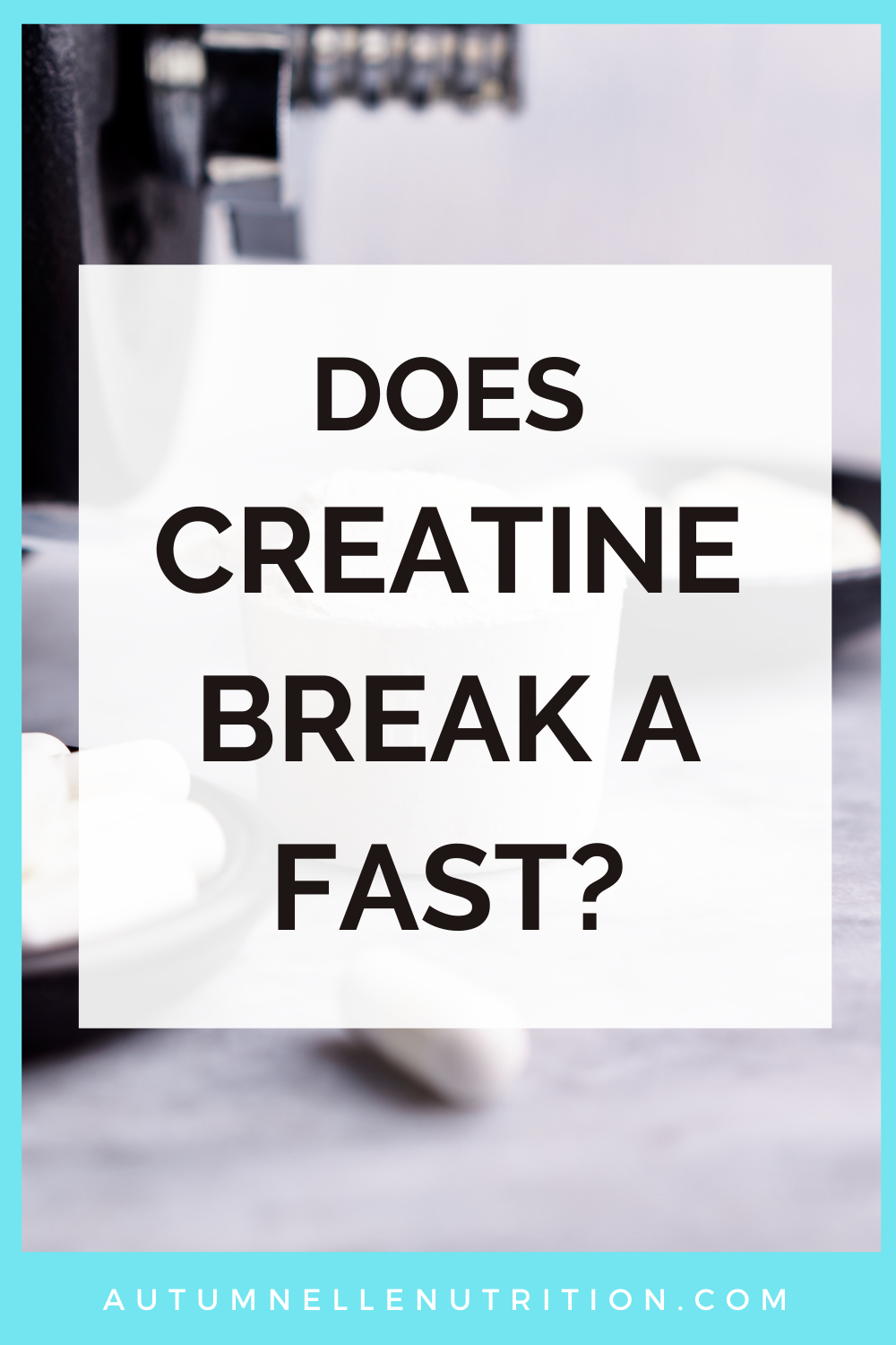 does creatine break a fast