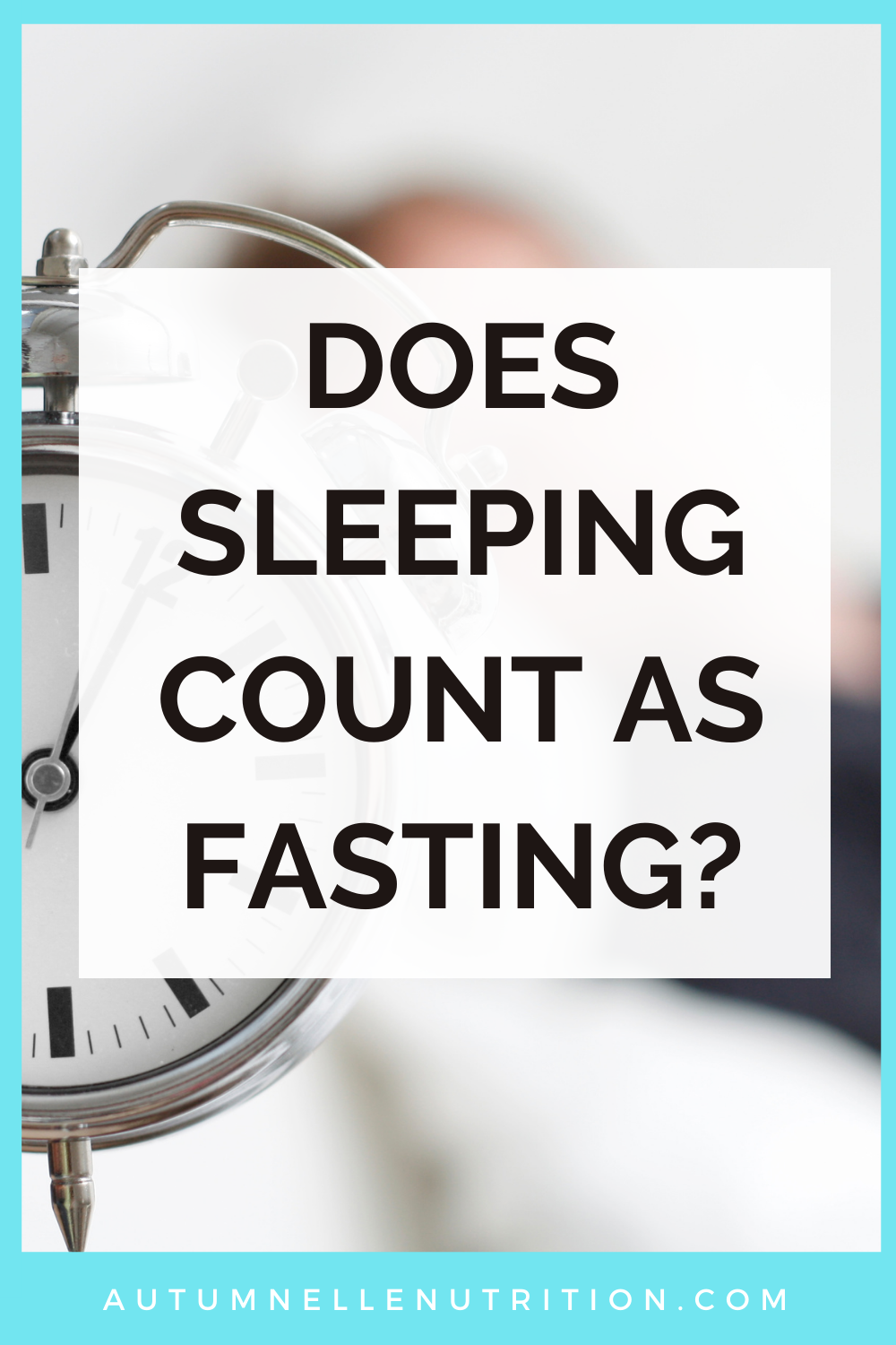 does sleeping count as fasting