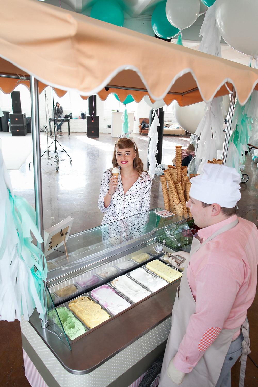 Тележка с мороженым - в аренду на праздник