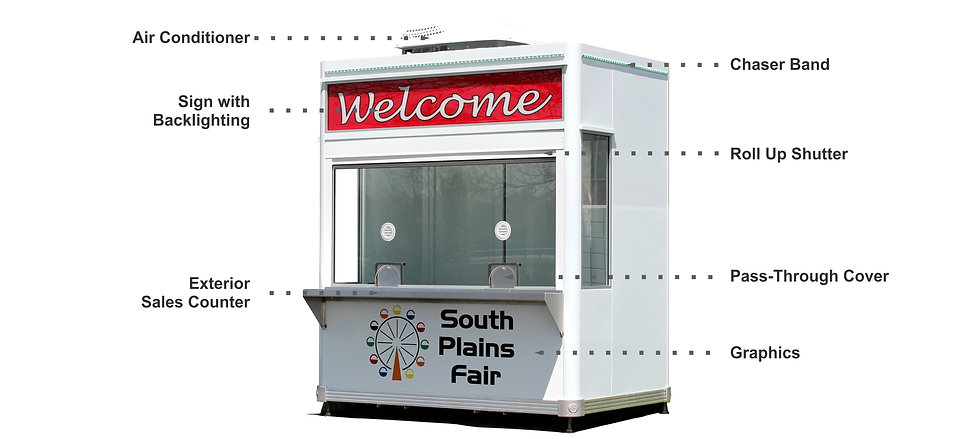 Portable ticket booth with options