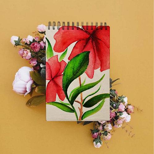 Hibiscus Spiral Sketch Book