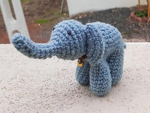 Grey Ele Hand Crochet Décor