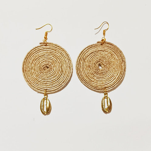 Gold Kaudi Jute earrings