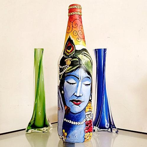 Krishna Handpainted Bottle