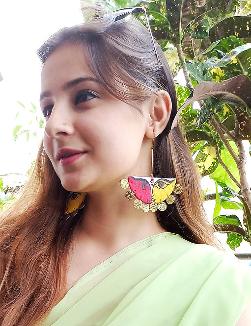 Ambika Handpainted Earrings