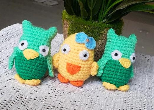Yellow Dunkin Duck Hand Crochet Décor