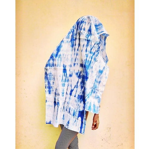 Sky Tie and Dye Cotton Scarf