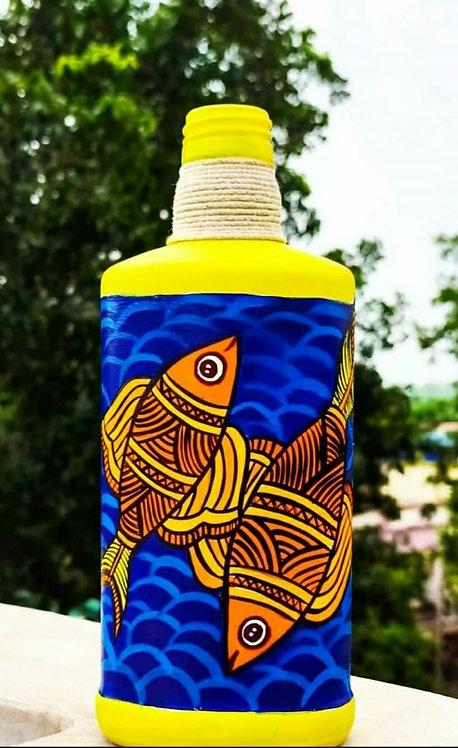 Pisces Handpainted Bottle