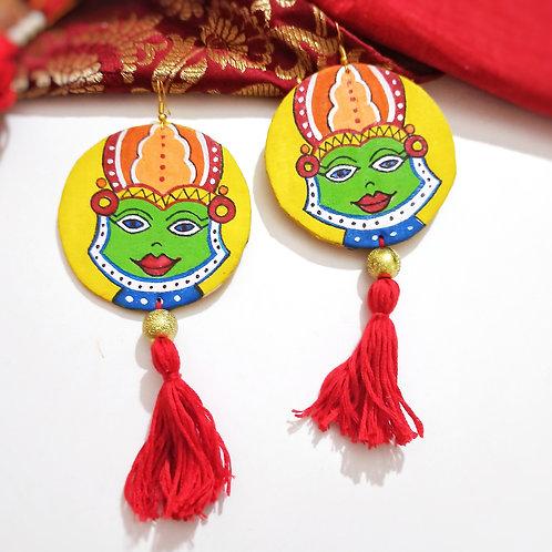 Satvika Handpainted Earrings