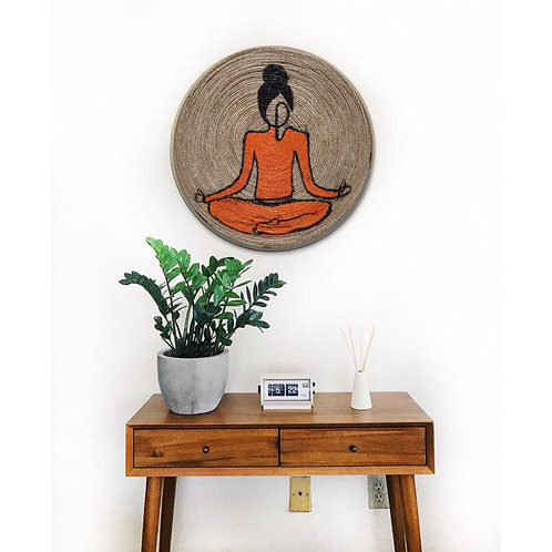 Hand Painted face of Buddha deep