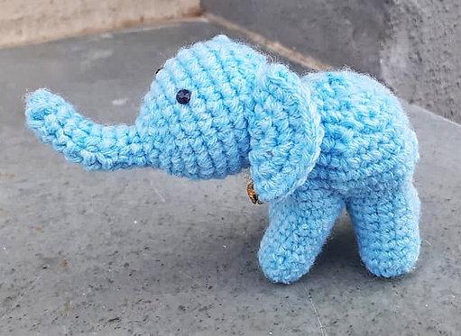Blue Hand Crochet decor