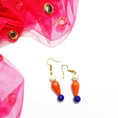Blooming Blue bead Earrings