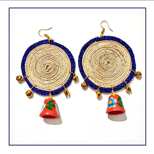 Ghunghroo Jute handcrafted Earrings